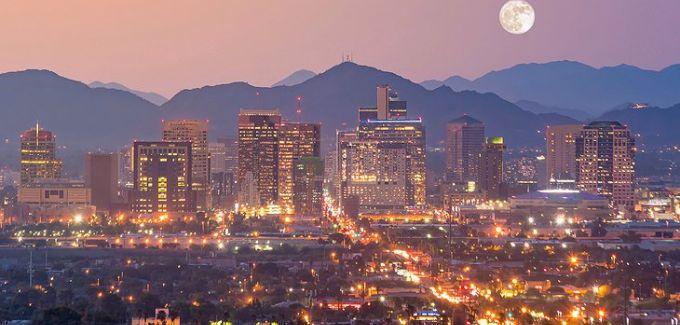 Phoenix downtown at night